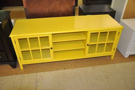 Wonderful High Quality Yellow TV Stands Regarding Windham Large Tv Stand 60 Yellow Shop Checkouts (View 5 of 50)