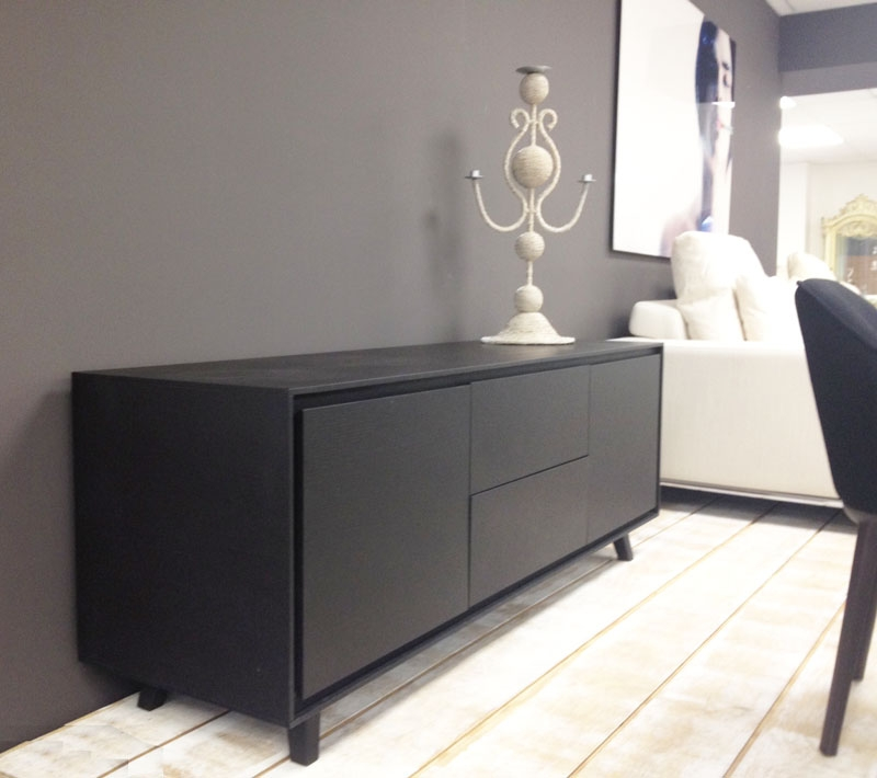 Wonderful Latest Black TV Cabinets In Midcentury Classic Tv Cabinet Available In Walnut And Black Oak (Image 49 of 50)
