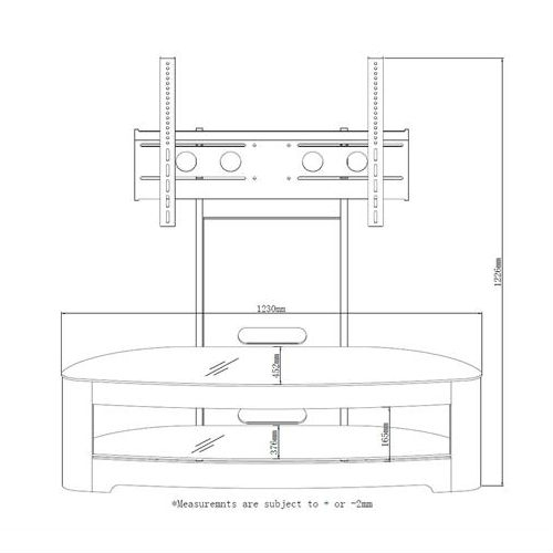 Wonderful Latest Cheap Cantilever TV Stands Pertaining To Jual Curve Oak Jf209 Cantilever Tv Stands Big Savings On Jual Curve (View 45 of 50)