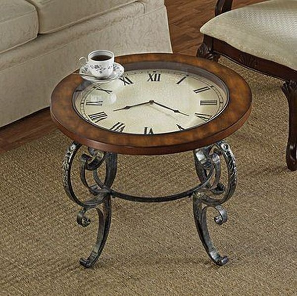 Wonderful Latest Coffee Tables With Clock Top Intended For Furnitures Rustic Diy Pallet Coffee Table With Glass Top Near (Image 37 of 40)