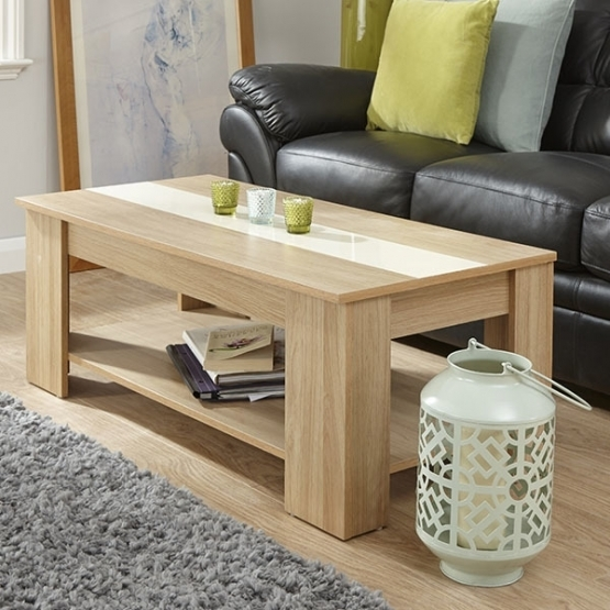 Wonderful Latest Cream And Oak Coffee Tables Intended For Villa Lift Up Coffee Table Oak And Cream Gay Times  (Image 39 of 40)