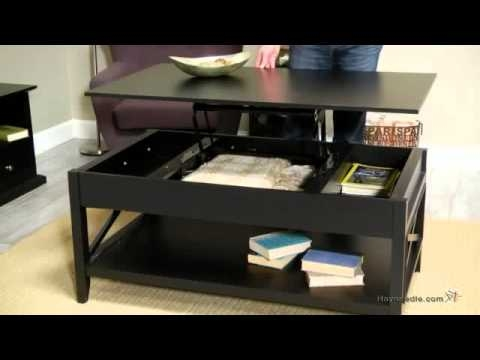 Wonderful Latest Flip Top Coffee Tables Regarding Belham Living Hampton Lift Top Coffee Table Black Youtube (Photo 44 of 50)