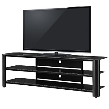 Wonderful Latest Glass TV Stands Throughout Amazon Innovex Fold N Snap Oxford 65 Tv Stand Black (View 39 of 50)