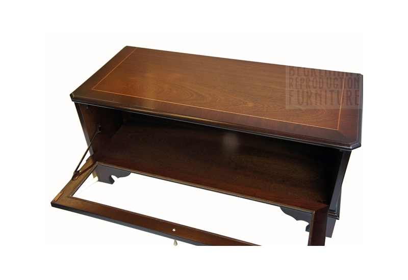 Wonderful Latest Mahogany TV Stands Inside Glass Front Tvvideo Box Cabinet Mahogany Veneer Beckenham (Image 48 of 50)