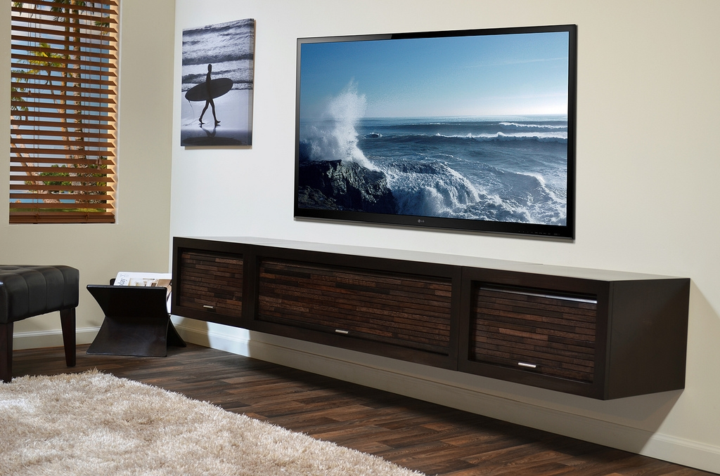 Wonderful Latest Modern Wall Mount TV Stands Within Best Wall Mount Media Shelf Home Decorations (Image 47 of 50)