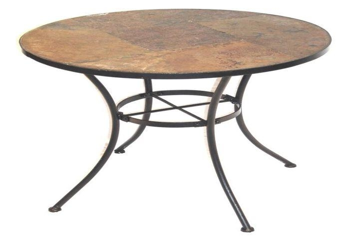 Wonderful Latest Round Slate Top Coffee Tables In Round Slate Top Coffee Table Starrkingschool (Image 40 of 40)