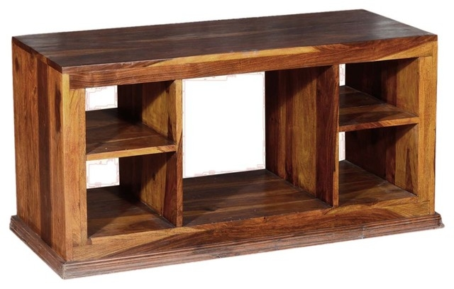 Wonderful Latest Solid Oak TV Stands Within Dallas Contemporary Solid Hardwood Open Back Tv Stand Media (View 46 of 50)