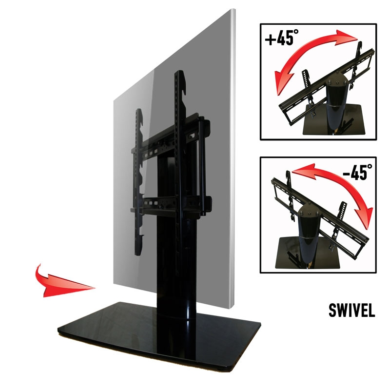 Wonderful Latest Swivel TV Stands With Mount Pertaining To Universal I Tabletop Tv Stand Swivel I Height Adjustment (Image 48 of 50)