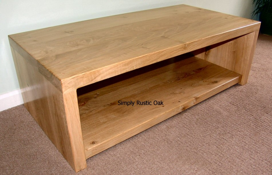 Wonderful Latest TV Stands In Oak Pertaining To Rustic Oak Large Plank Tv Stand Simply Rustic Oak Handmade (View 14 of 50)
