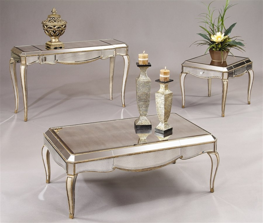Wonderful New Antique Mirrored Coffee Tables Throughout Round Mirrored Coffee Table Coffee Tables Zone Best Mirrored (Image 36 of 40)