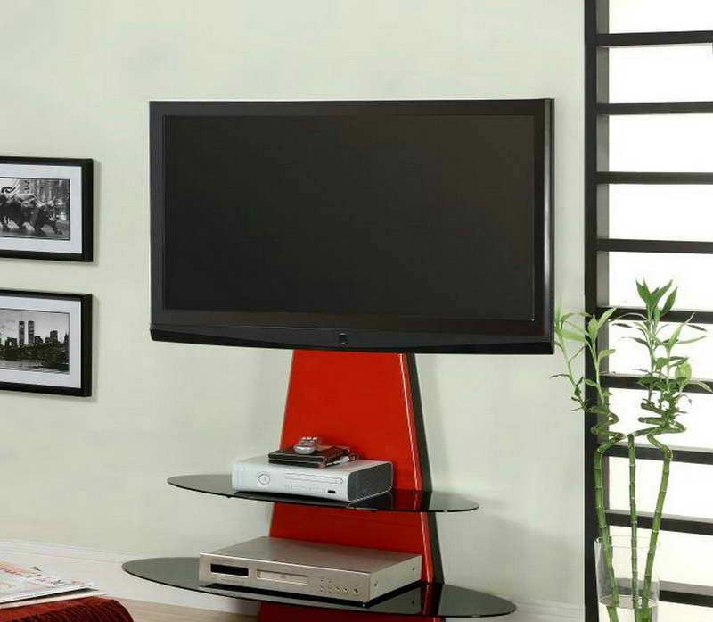 Wonderful New Black And Red TV Stands With Tv Stands Spaces Saving Tv Stand For 32 Inch Tv Design (Image 45 of 50)