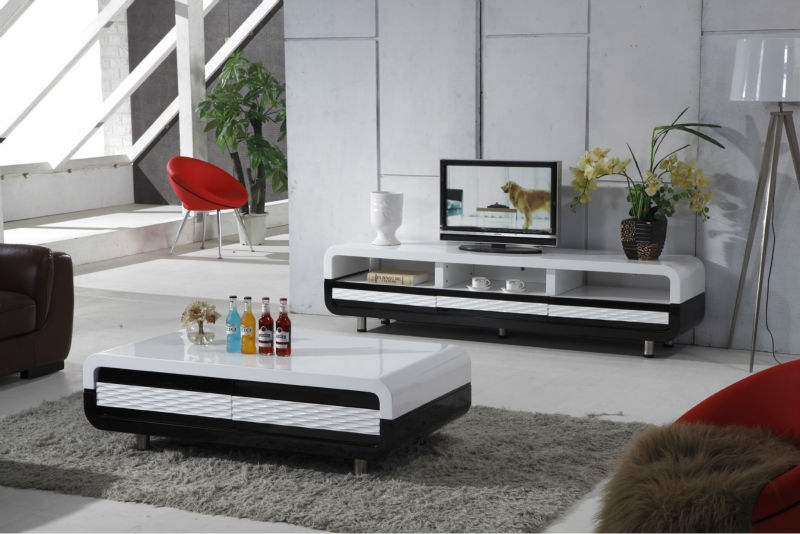 Wonderful New Coffee Tables And TV Stands Matching For Kosova Black And White Wooden Design Corner Tv Table Buy Design (View 20 of 50)