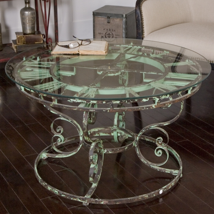 Wonderful New Coffee Tables With Clock Top With Regard To Clock Coffee Table Round (Image 38 of 40)