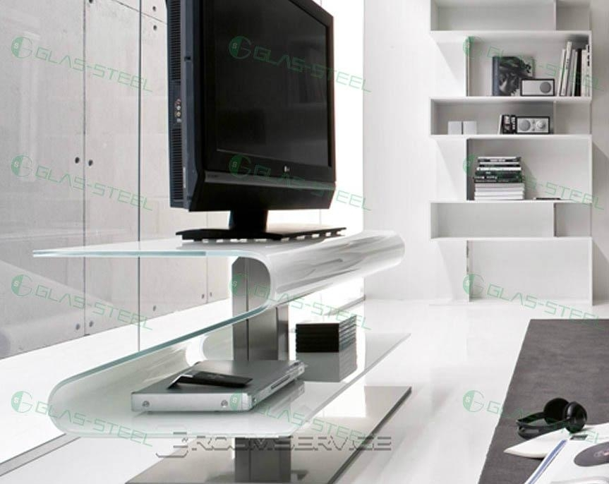 Wonderful New Glass TV Cabinets Pertaining To Glas Steel Furniture Tv Stand Tv Units Tv Cabinet Tv Rack (Image 48 of 50)