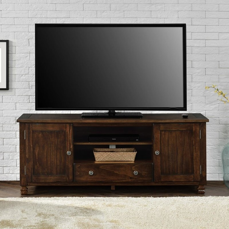 Wonderful New Honey Oak TV Stands With Regard To Extra Tall Tv Stands Wayfair (Image 49 of 50)