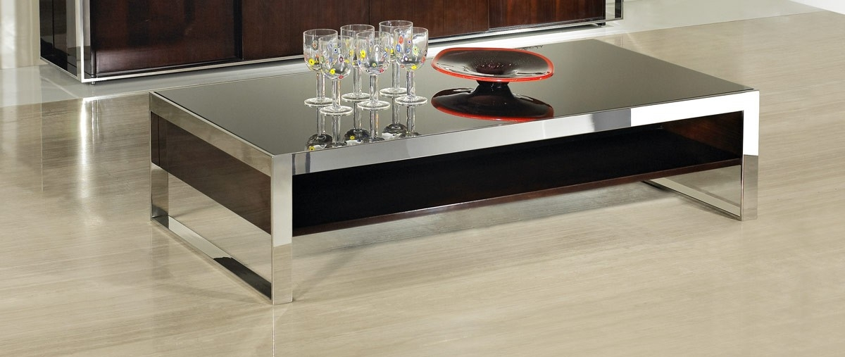 Wonderful New Lacquer Coffee Tables Within Noble Modern Ebony Lacquer Coffee Table (View 4 of 40)