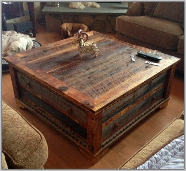 Wonderful New Large Rustic Coffee Tables Inside Rustic Large Square Coffee Table Coffee Table Home Decorating (View 10 of 50)