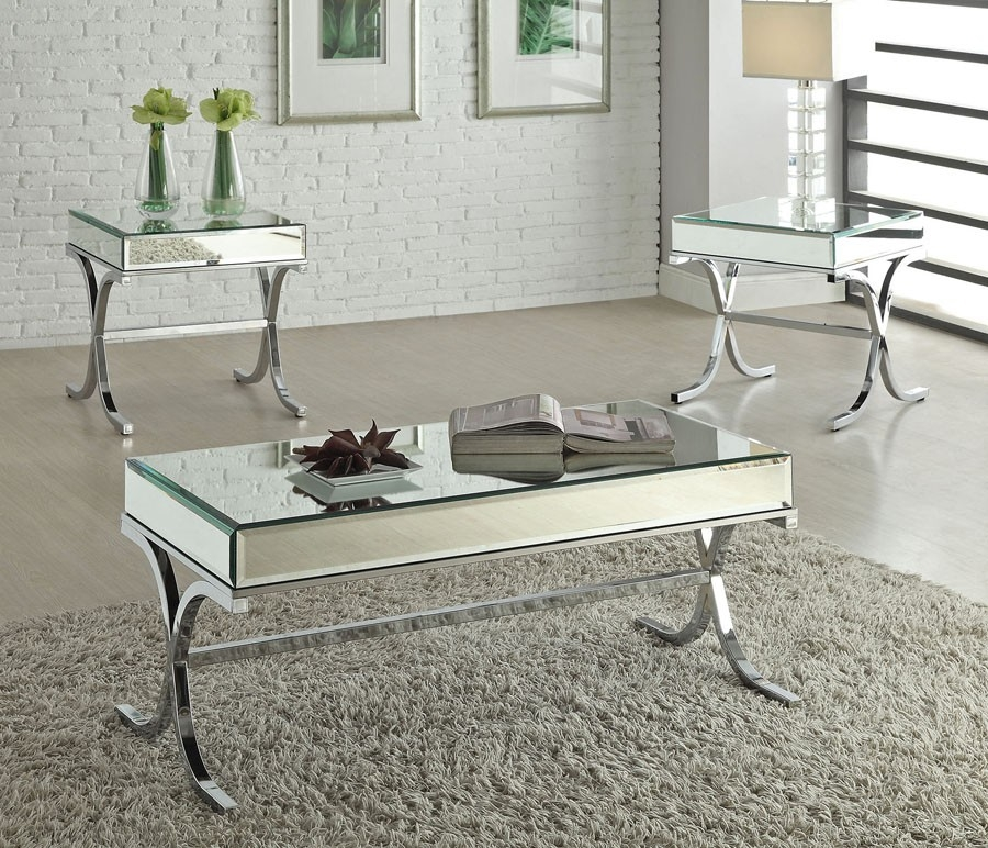 Wonderful New Mirrored Coffee Tables For Mirrored Coffee Table Set Vanities Decoration (Photo 11 of 50)