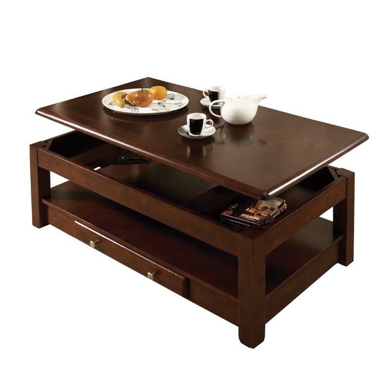 Wonderful New Nelson Coffee Tables For Steve Silver Nelson Lift Top Coffee Table In Cherry Nl300clc (Image 47 of 50)