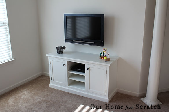 Wonderful New Painted TV Stands In Our Home From Scratch (Image 48 of 50)