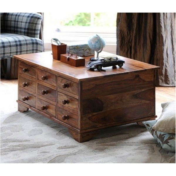Wonderful New Sheesham Coffee Tables For Trunk Chest Coffee Table Of Sheesham Wood Sublime Exports (View 33 of 50)