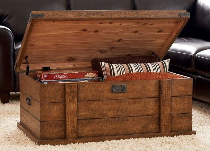 Wonderful New Trunk Chest Coffee Tables In Creative Diy Trunk Coffee Table (View 10 of 50)