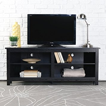 Wonderful New Wooden Corner TV Stands Throughout Amazon We Furniture 58 Wood Corner Tv Stand Console Black (View 12 of 50)