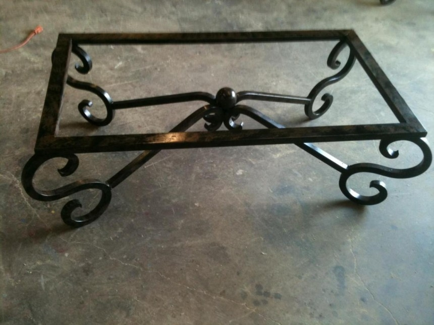 Wonderful New Wrought Iron Coffee Tables For Decorating Attractive Wrought Iron Coffee Table Make Classy Your (Image 48 of 50)