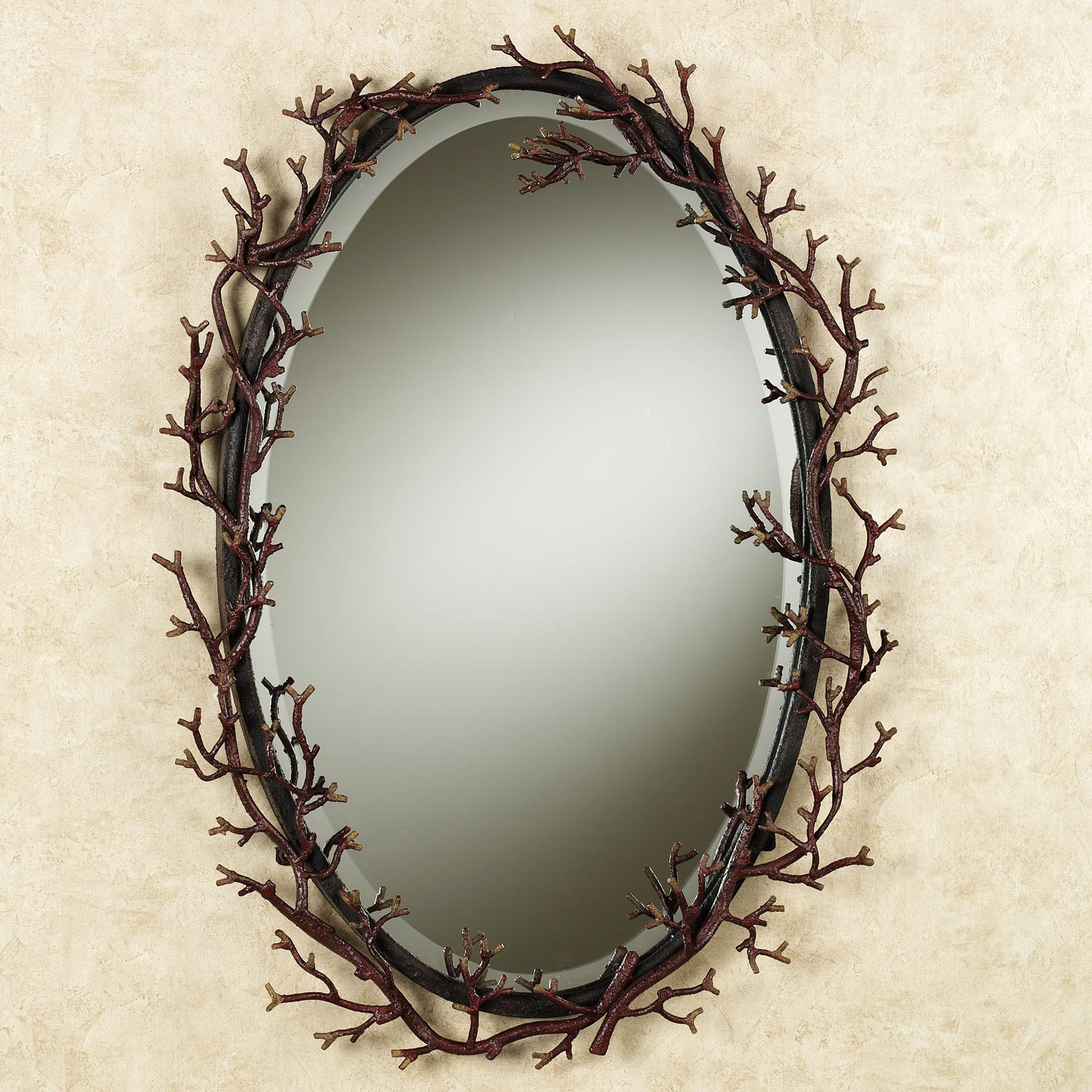 Wonderful Oval Shape Entryway Wall Mirrors With Iron Frames As Within Oval Shaped Wall Mirrors (Image 20 of 20)