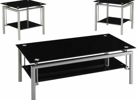 Wonderful Popular Black Glass Coffee Tables Inside Black Gloss Coffee Lamp Side Table Black Glass Top Modern New (Image 49 of 50)