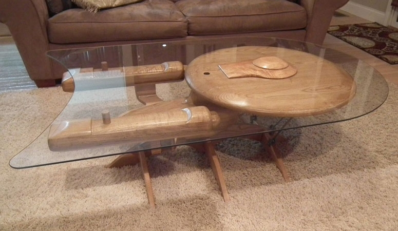 Wonderful Popular C Coffee Tables Intended For Star Trek Uss Enterprise Ncc 1701 C Coffee Table The Green Head (View 38 of 50)