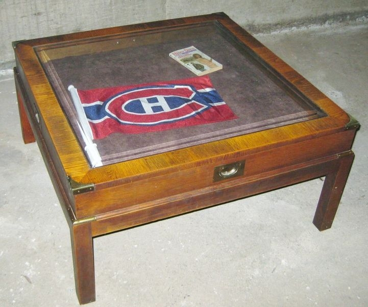Wonderful Popular Campaign Coffee Tables With Regard To Coffee Table Coffee Table With Glass Display Case 70s Campaign (Image 48 of 50)