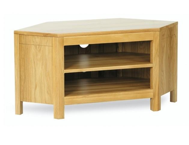 Wonderful Popular Corner Oak TV Cabinets For Torino Solid Oak Low Corner Tv Cabinet Oak Furniture House Of Oak (Image 50 of 50)