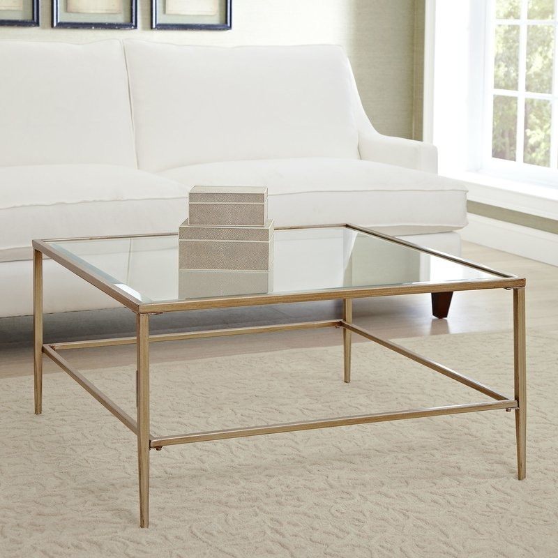 Wonderful Popular Glass Gold Coffee Tables Inside Glass Coffee Tables Youll Love Wayfair (View 14 of 50)