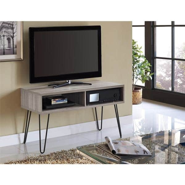 Wonderful Popular Hairpin Leg TV Stands Regarding Altra Owen Retro Tv Stand Free Shipping Today Overstock (Image 48 of 50)