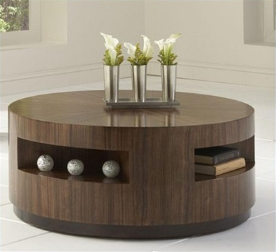 Wonderful Popular Round Coffee Tables With Drawer With Coffee Table Wood Round Coffee Table With Drawer Design  (Image 50 of 50)
