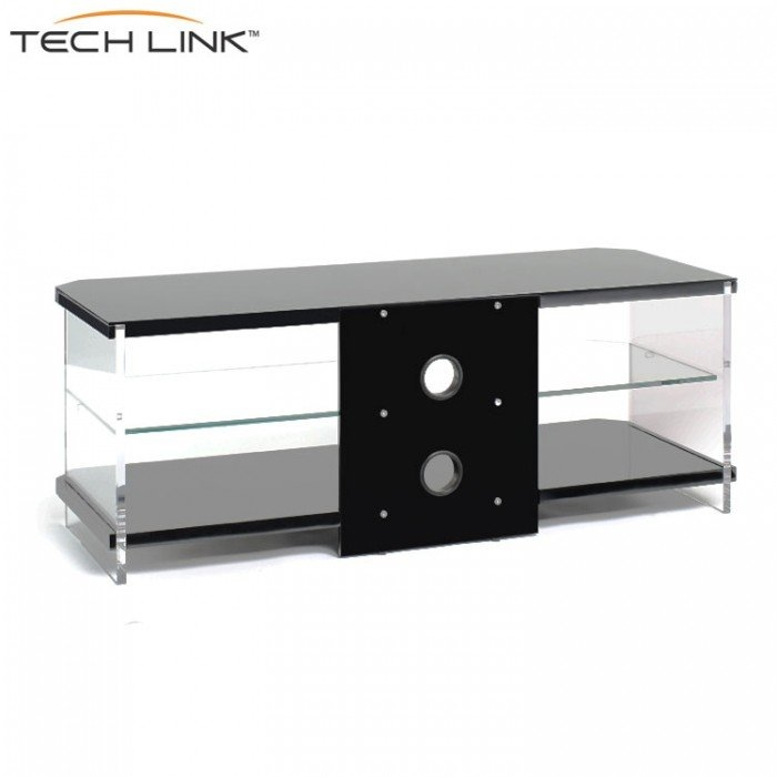 Wonderful Popular Techlink Air TV Stands Throughout Techlink Ai110b Air Piano Gloss Black With Clear Glass Tv Stand (Image 48 of 50)