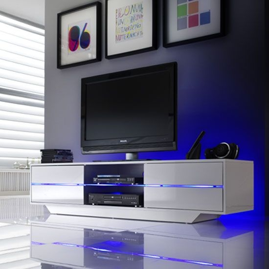 Wonderful Popular TV Stands 100cm Wide With Best 20 White Gloss Tv Unit Ideas On Pinterest Tv Unit Images (View 37 of 50)