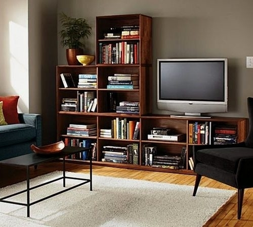 Well-known 50 Photos TV Stands Bookshelf Combo | Tv Stand Ideas EU02