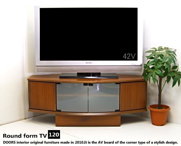 Wonderful Popular TV Stands With Rounded Corners For E Nostyle Rakuten Global Market Free Width 120 Tv Stand Round (View 6 of 50)