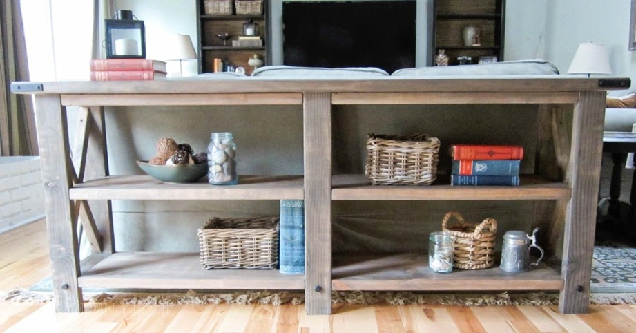 Wonderful Popular White Rustic TV Stands Pertaining To Ana White Rustic X Console Diy Projects (Image 47 of 50)