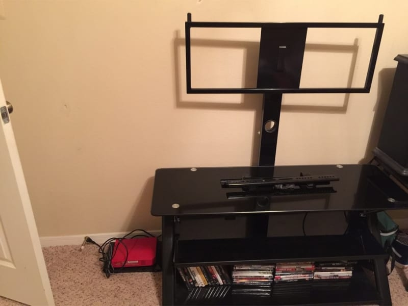Wonderful Preferred 44 Swivel Black Glass TV Stands Inside 44 Swivel Black Glass Tv Stand (Image 50 of 50)