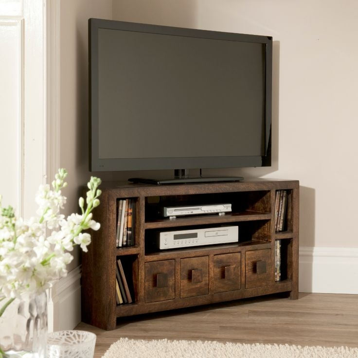 Wonderful Preferred 50 Inch Corner TV Cabinets Throughout Best 25 Wood Corner Tv Stand Ideas On Pinterest Corner Tv (View 12 of 50)