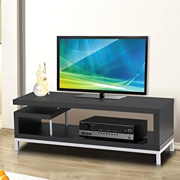 Wonderful Preferred 61 Inch TV Stands Intended For Amazon Topeakmart 45 Inch Black Modern Tv Stand Console Table (Image 49 of 50)