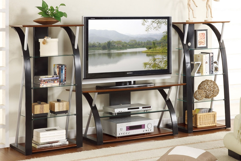 Wonderful Preferred Black Modern TV Stands Within Modern Futuristic Brown Black Entertainment Center Tv Stand (Image 49 of 50)