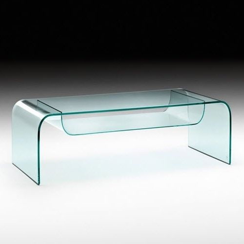 Wonderful Preferred Curved Glass Coffee Tables Intended For Contemporary Coffee Table Glass Curved Glass Rectangular (Image 45 of 50)