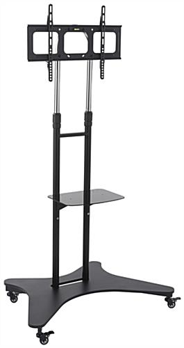Wonderful Preferred Lockable TV Stands For Mobile Flat Panel Tv Stands Black Metal With Shelf Vesa Mount (Image 49 of 50)