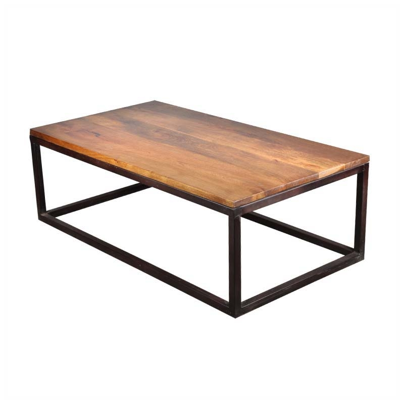 Wonderful Preferred Long Coffee Tables With Regard To Iron Mango Wood 52 Long Industrial Coffee Table (View 19 of 50)