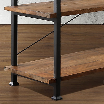 Wonderful Preferred Metal And Wood TV Stands For Industrial Tv Stand Rustic Shelves Wood Metal Media Entertainment (Image 49 of 50)