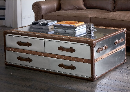 Featured Image of Stainless Steel Trunk Coffee Tables